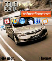 Honda by Tirle Od Ua theme screenshot