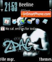 2pac 10 theme screenshot