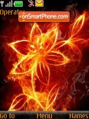 Fire flowers theme screenshot
