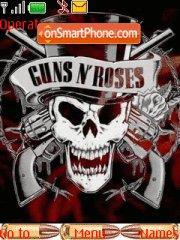 Скриншот темы Guns 'N' Roses