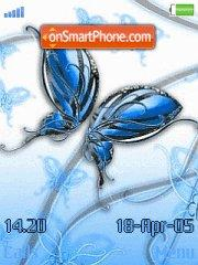 Butterfly Blue theme screenshot