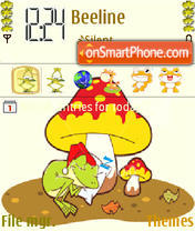 Sleepnig Frog theme screenshot