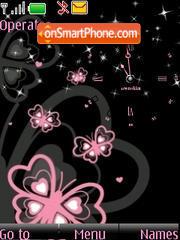 Capture d'écran SWF clock Butterfly thème