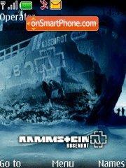 Rammstein Rosenrot theme screenshot