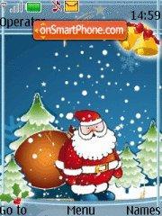 Santa In Blue theme screenshot