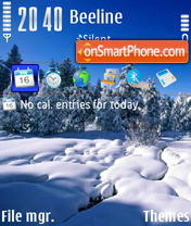 Winter v2 01 tema screenshot