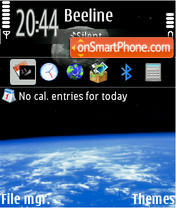 The Earth 01 theme screenshot