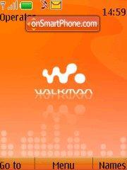Walkman Orange 02 theme screenshot