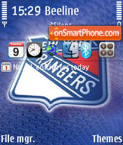 New York Rangers theme screenshot