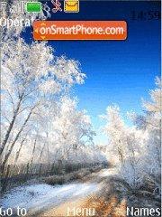 Winter Road theme screenshot