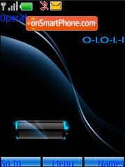 Swf clock battery theme screenshot