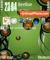 Скриншот темы Greenbubbles