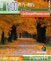 Persa Autumn es el tema de pantalla