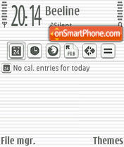 White Aqua v3. theme screenshot