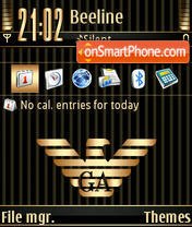 Gold Armani theme screenshot