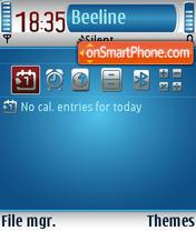 Blue Hole theme screenshot