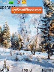 Winter Forest theme screenshot