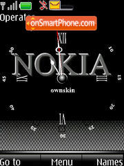 SWF Nokia clock theme screenshot
