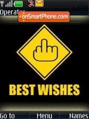 Best Wishes es el tema de pantalla