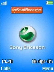 Скриншот темы Sony Ericsson Blue