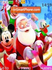Mickey Mouse and Santa theme screenshot
