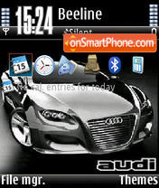 Black Audi V1 tema screenshot