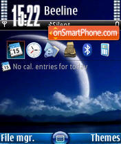 Blue Moon V1 tema screenshot
