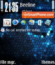 Mosaico Azul theme screenshot