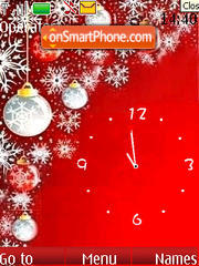 Скриншот темы SWF clock New year