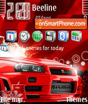 Red Vector Skyline Fp1 Theme-Screenshot