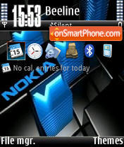 Nokia Blue V1 tema screenshot