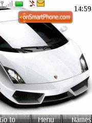Скриншот темы Lamborghini White