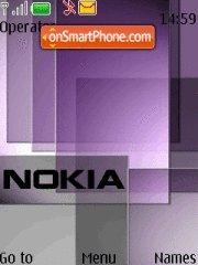 Purple Nokia Style theme screenshot