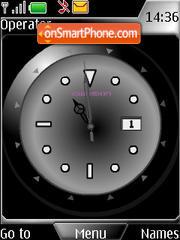 SWF black clock Theme-Screenshot