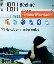 I Miss U 01 theme screenshot