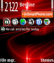 Red Abstract 01 Theme-Screenshot