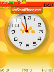 Walkman Clock theme screenshot