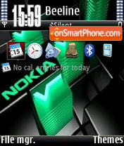 Nokia Green V1 tema screenshot