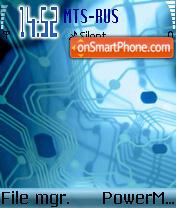 Blue Tech es el tema de pantalla