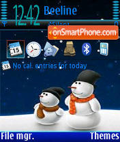 SnowMan V1 tema screenshot