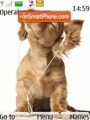 Musical Dog 01 theme screenshot