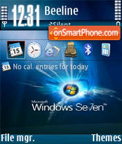 Windows7 V1 es el tema de pantalla