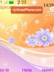 Orange Purple tema screenshot