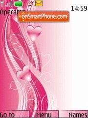 Pink Hearts 02 theme screenshot
