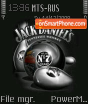Jack Daniels 02 theme screenshot