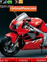 Red Honda Bike theme screenshot