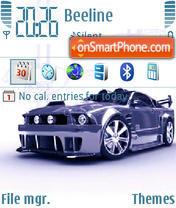 Скриншот темы Blue Mustang