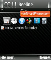 Black Line theme screenshot