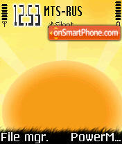Sunset Os7 theme screenshot