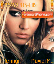 Britney Spears 12 theme screenshot